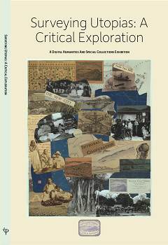 The cover of Surveying Utopias: A Critical Exploration exhibition catalogue, available in print and online.