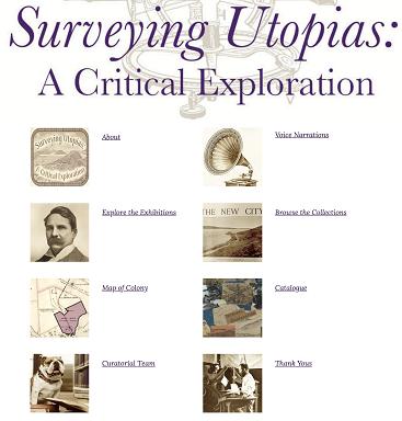 Surveying Utopias: A Critical Exploration's digital exhibition homepage
