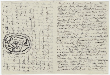 Image of letter from Marsden Hartley to Alfred Stieglitz.