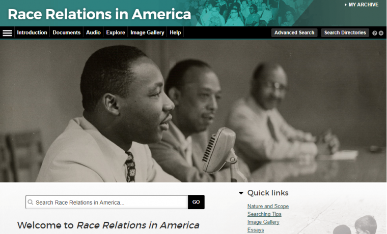 race relations homepage