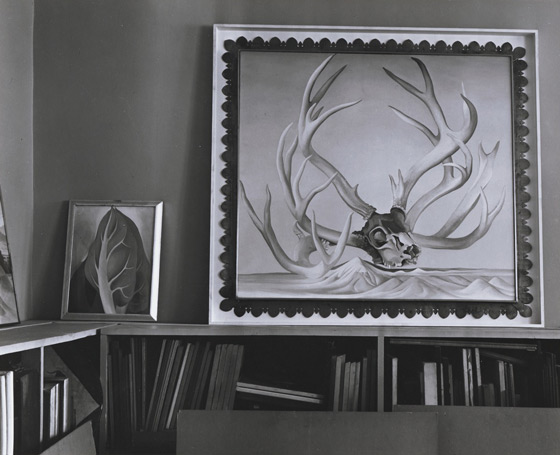 Alfred Stieglitz, Georgia O'Keeffe Paintings at An American Place gallery