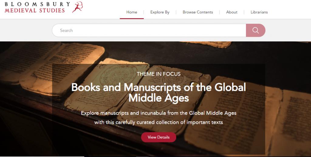Bloomsbury Medieval Studies webpage image