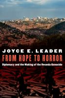 Image of book cover : From Hope to Horror