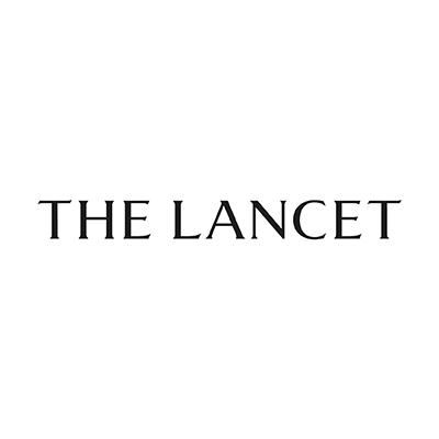 The Lancet logo. Black letters, white background.