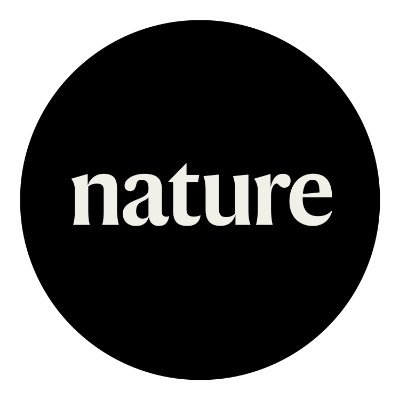 Nature logo. Black background with white text. Reads: Nature