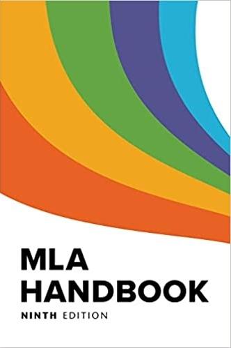 MLA Handbook 9th edition book cover