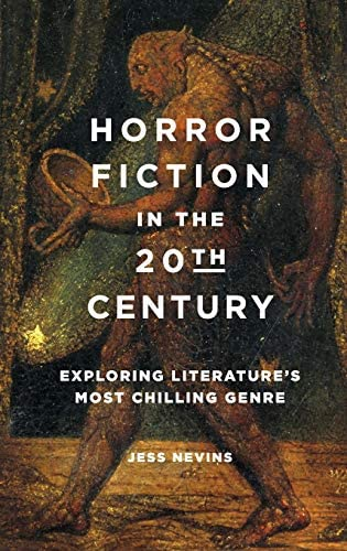 Horror fiction in the 20th century: exploring literature's most chilling genre cover. Painting of demon/monster.